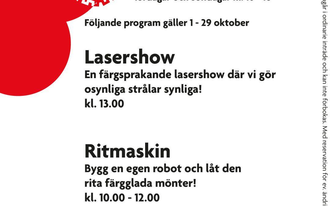 Helgprogram 1 – 29 oktober