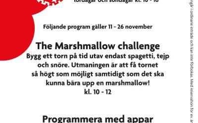 Helgprogram 11 – 26 november